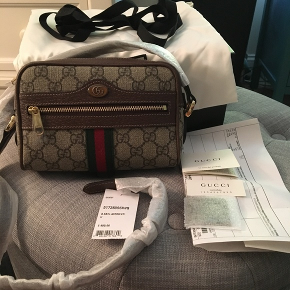5c4db47c26c Gucci Bags | Nwt Ophidia Small Supreme Canvas Crossbody | Poshmark